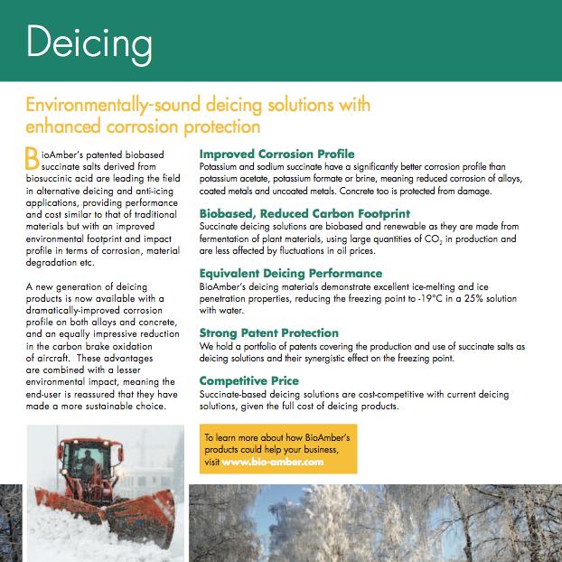 BioAmber Factsheet Deicing 2012