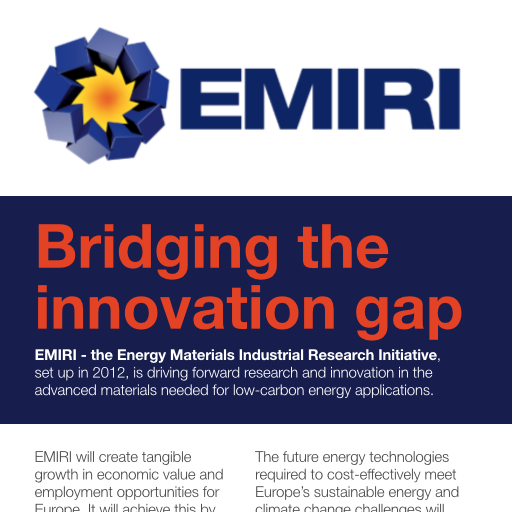 EMIRI Brochure 2013 - Bridging the Innovation Gap