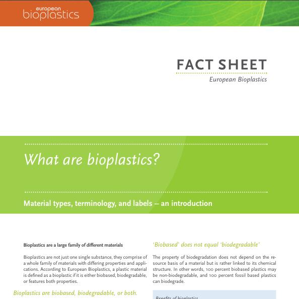 European Bioplastics - Fact Sheet: What are Bioplastics 2016
