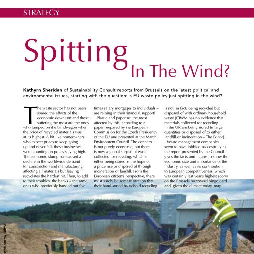 Kathryn Sheridan 'Spitting In The Wind' in CIWM April 2009
