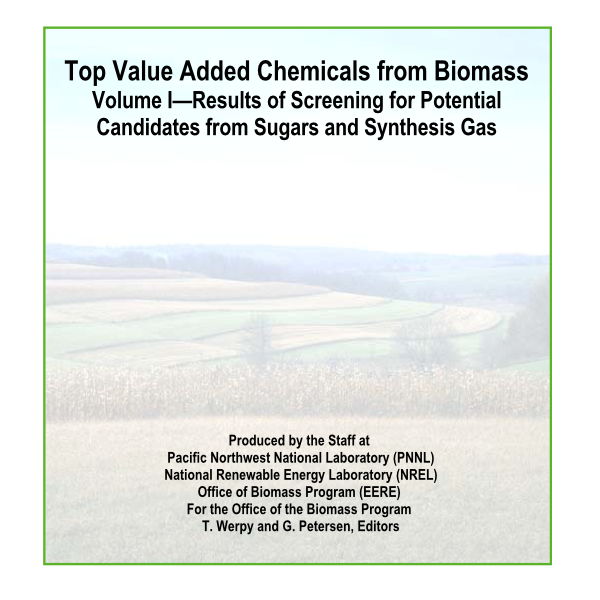 NREL - Top Value Added Chemicals from Biomass 2004
