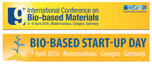 9th International Confernece Bio based Materials and Bio Based Start Up Day logos