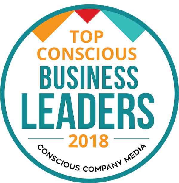 Top Conscious Business Leaders 2018 logo